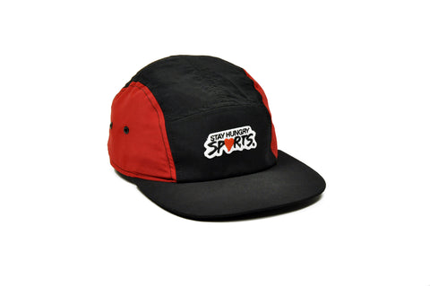 SPORTS 5 panel cap – red/black