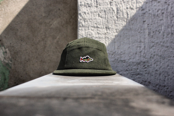 Upgraded ABORRE 5 panel cap – dark green