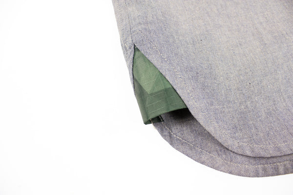 STAY HUNGRY HEIMPLANET Collabo button down shirt - grey blue