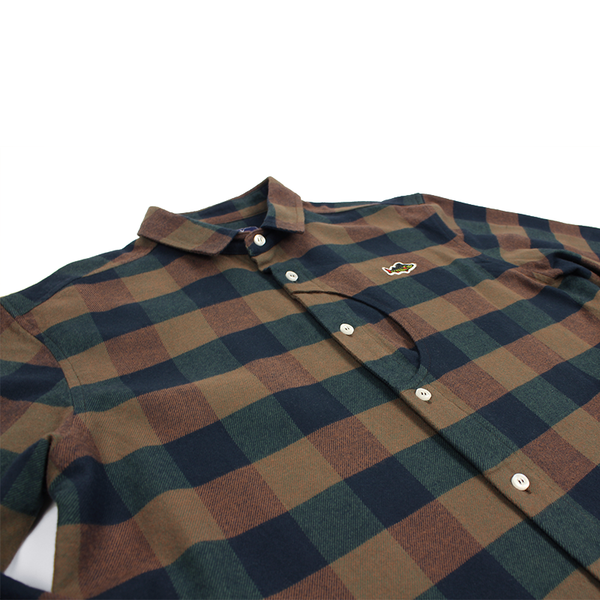ABORRE LUMBERJACK button down shirt – brown/green flanel