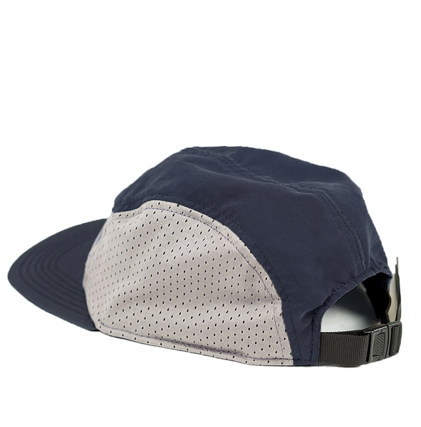 BLUE LABEL MESH 5 PANEL CAP - blue / grey / blue