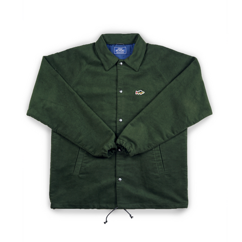 ABORRE JACKET - forest green waterresistant wool fabric