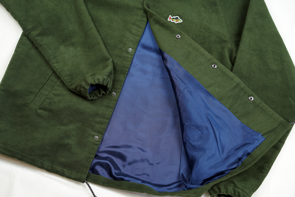 ABORRE JACKET - forest green waterresistant cotton fabric
