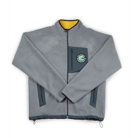 YMGU® FLEECE JACKET - grey / yellow