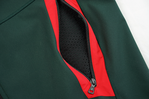 SMOOTHIE FLEECE VEST - RED / GREEN SOFTSHELL