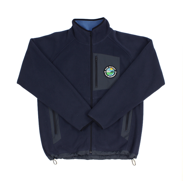 YMGU® Fleece Jacket - navy blue, grey