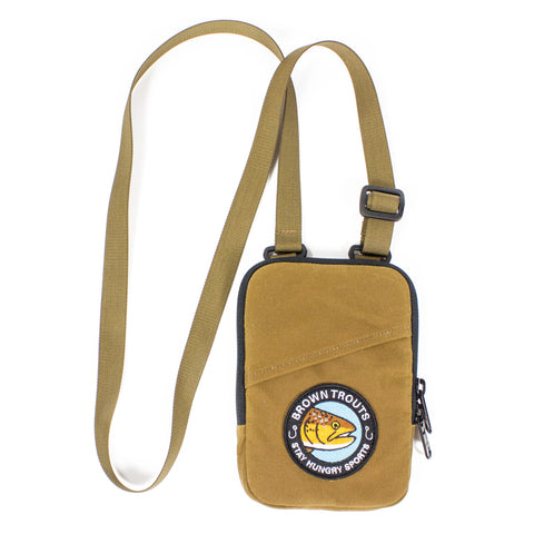 BROWN TROUTS Shoulderbag – light brown British Millerain®