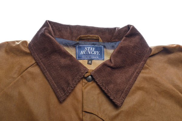 BROWN TROUTS coach jacket – waxed brown British Millerain® cotton