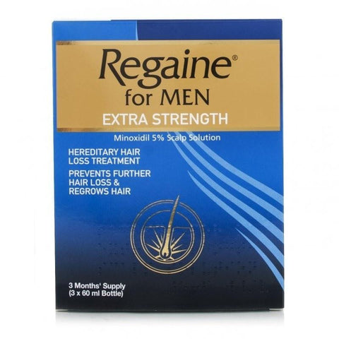 Regaine for Men Extra Strength Solution 3 x 60ml