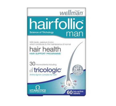 Vitabiotics Hairfollic Man Hair Health and Growth Tablets 60 Tablets