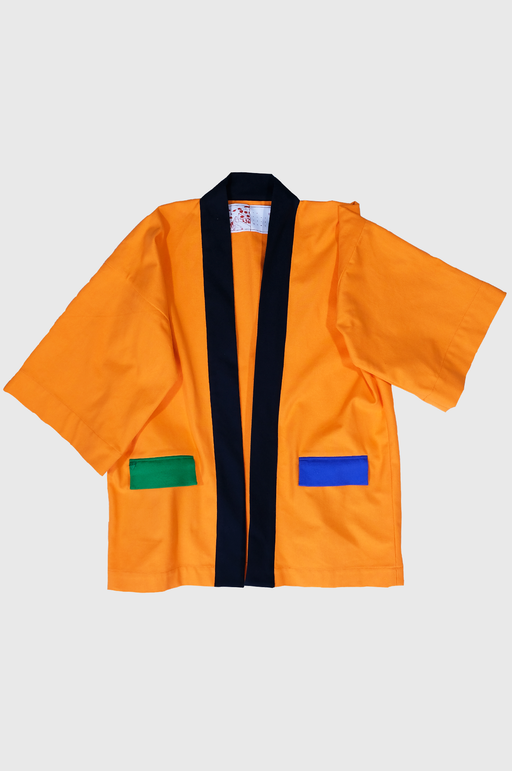 LF Haori Jacket in Vivid Orange Color Block