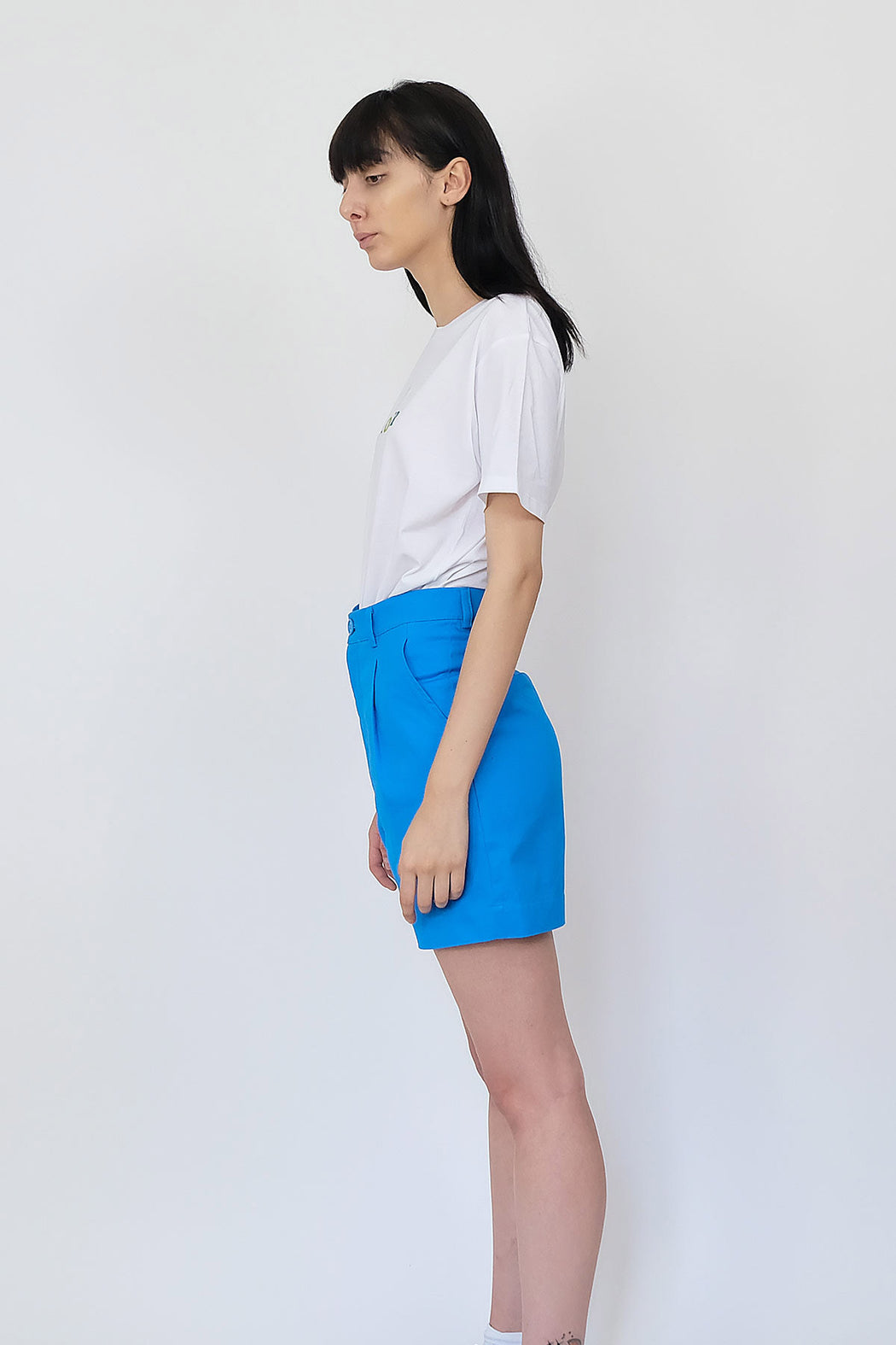 LF Cotton Shorts in Bright Blue