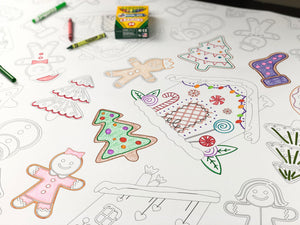 Gingerbread Table Top Coloring Banner