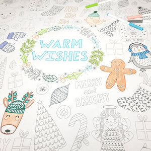 Warm Wishes Table Top Coloring Banner