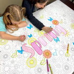 Spring Table Top Coloring Banner