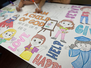 Child of God Table Top Coloring Banner