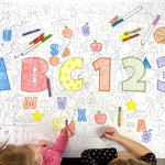 ABC 123 Table Top Coloring Banner
