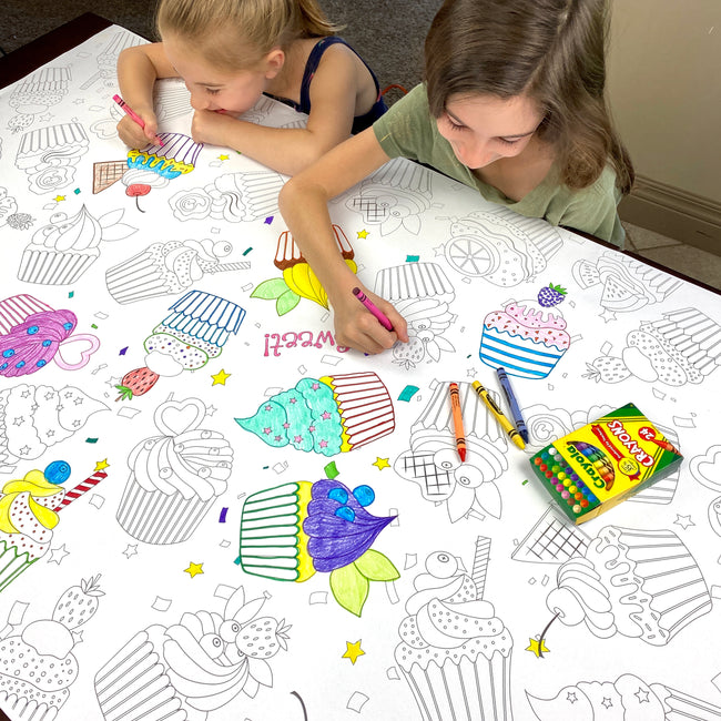 Cupcakes Table Top Coloring Banner