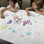 Butterfly Table Top Coloring Banner