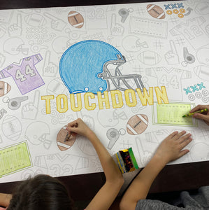 Football Huge Coloring Banner