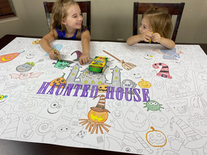 Haunted House Coloring Sheet