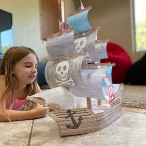 Pirate Ship 3D Coloring