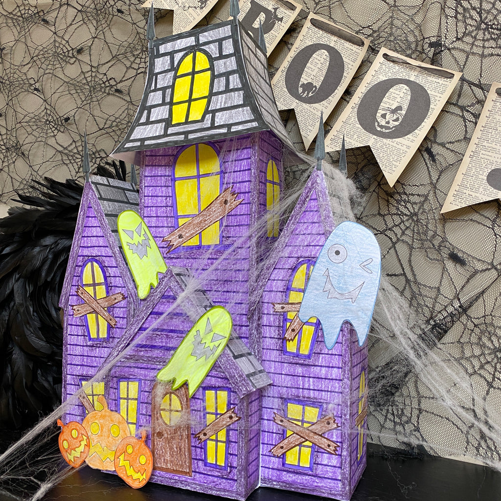 Haunted House 3D Coloring