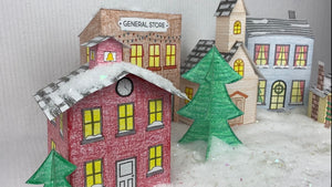 Christmas Village 3D Coloring