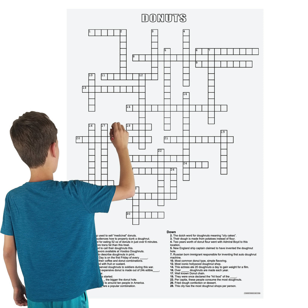Donuts Crossword Puzzle
