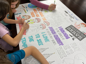I love General Conference Table Top Coloring Banner