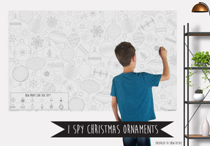 I Spy Christmas Ornaments Coloring Banner