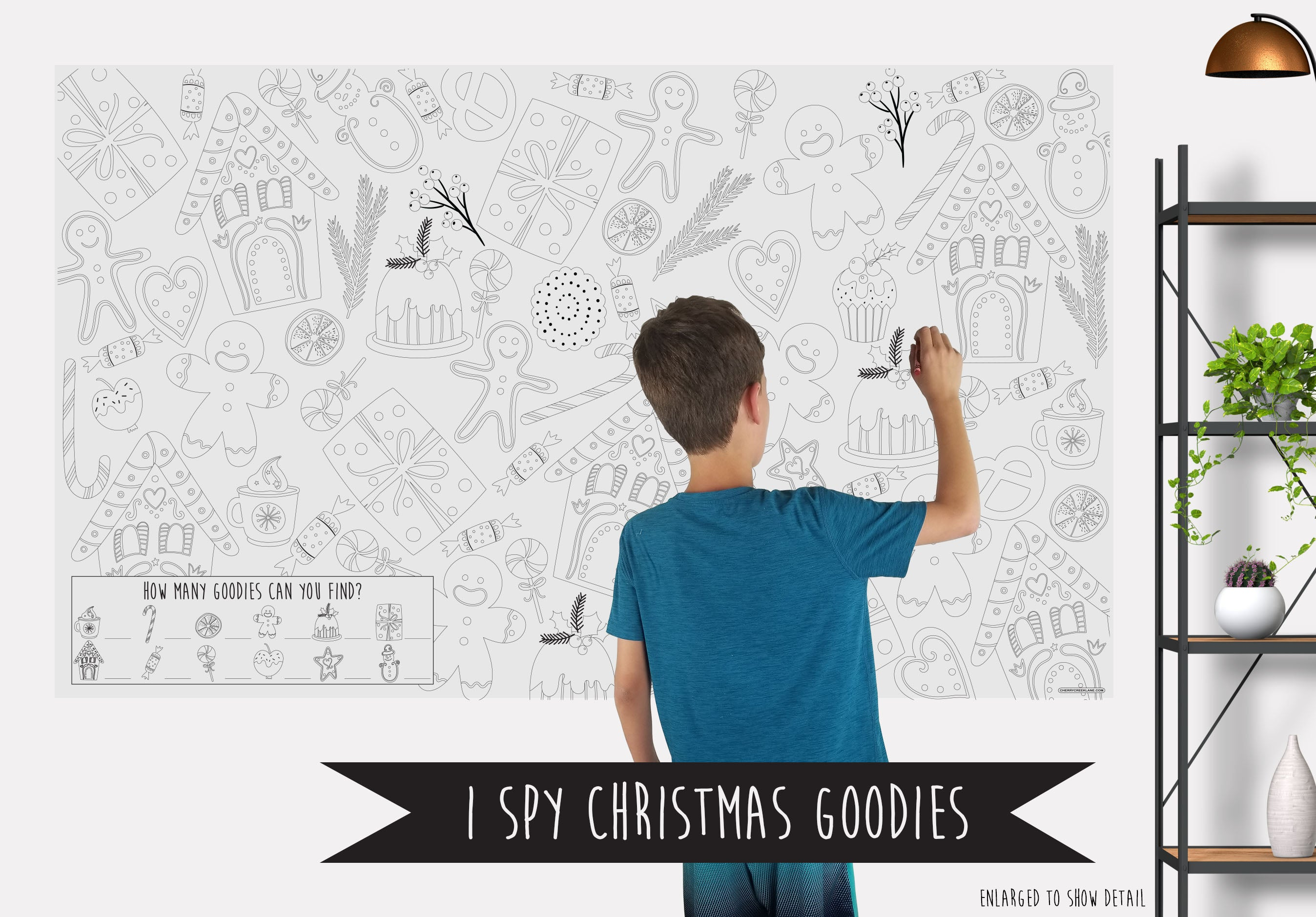 I Spy Christmas Goodies Coloring Banner