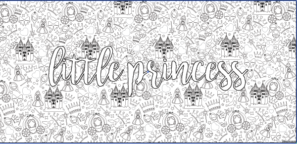 Little Princess Table Top Coloring Banner