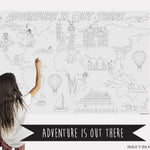 Adventure Is Out There Table Top Coloring Banner