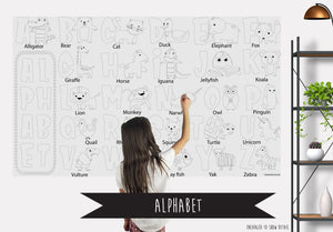 Alphabet Table Top Coloring Banner