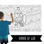 Armor Of God Table Top Coloring Banner