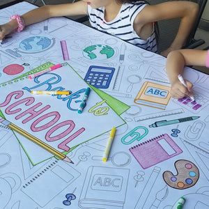 Back To School Table Top Coloring Banner