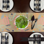 Birthday Party Kraft Paper Runner