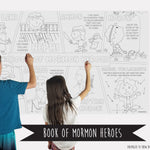 Book Of Mormon Heroes Table Top Coloring Banner