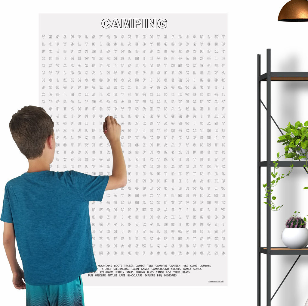 Camping Giant Word Search Puzzle