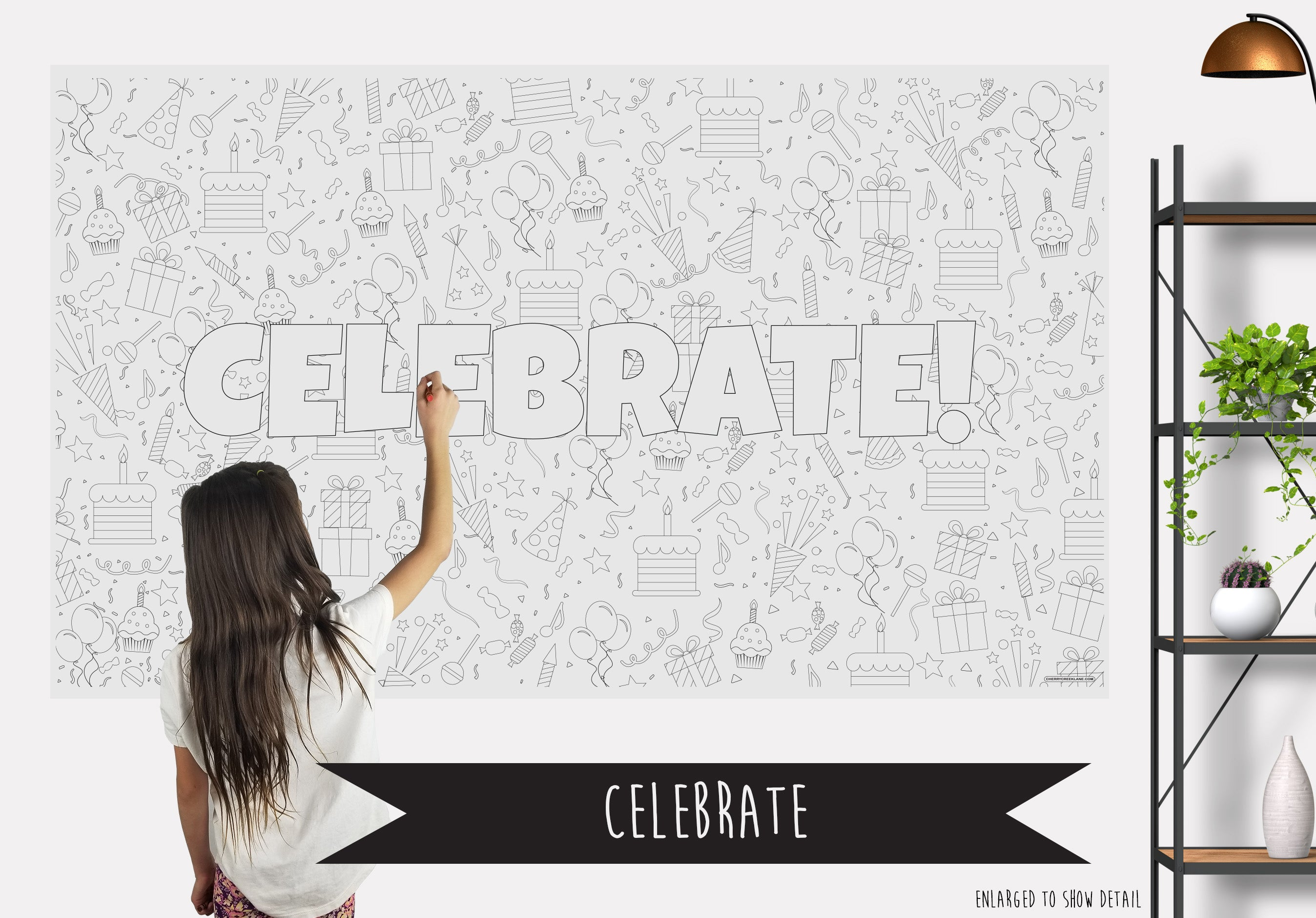 Celebrate Table Top Coloring Banner