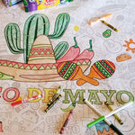 Cinco De Mayo Table Top Coloring Banner