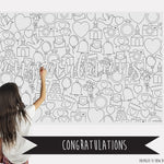 Congratulations Table Top Coloring Banner