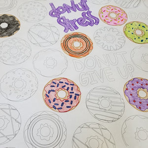 Donut Table Top Coloring Banner