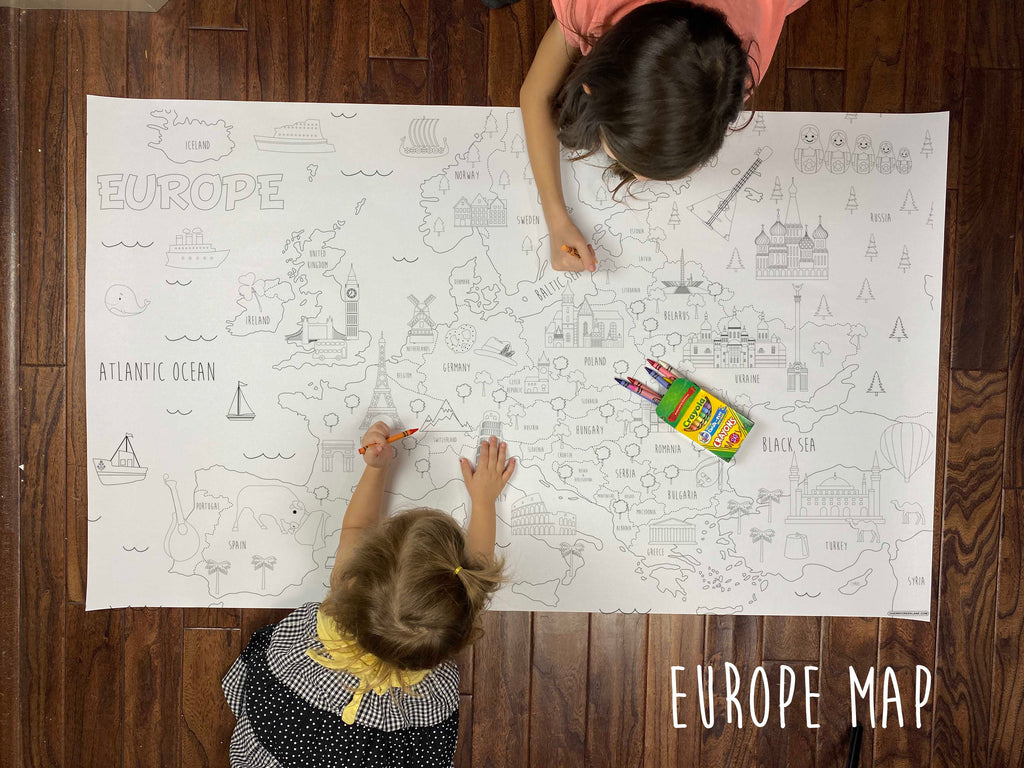 Europe Map Coloring Sheet