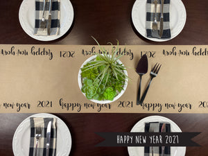 Happy New Year Kraft Paper Runner