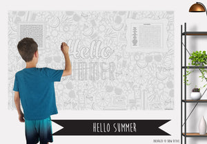 Summer Table Top Coloring Banner