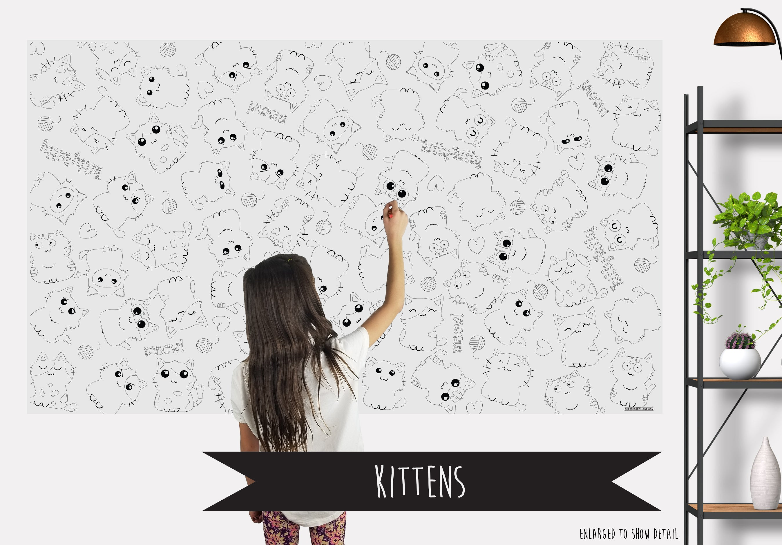 Kittens Table Top Coloring Banner