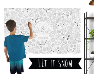 Let it Snow Coloring Banner