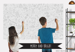 Merry & Bright Table Top Coloring Banner